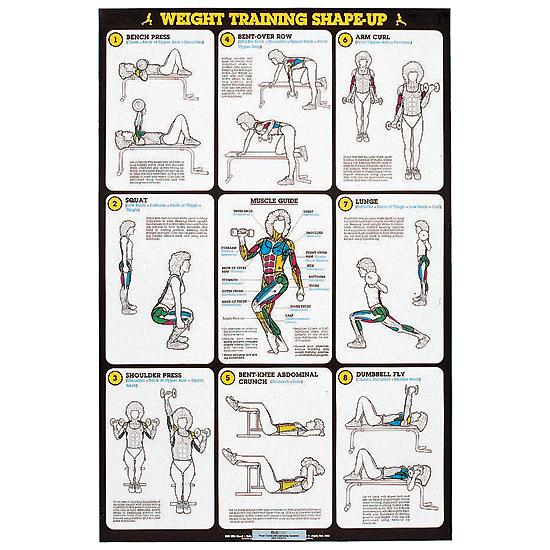 Self Instruction Weight Training Poster Weight Training Poster