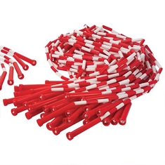 Beaded Skip Rope Bonus Pack - 7' Red - White