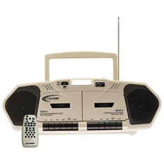 Califone® AM/FM Stereo CD/Cassette Player with Dual Cassette