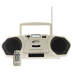 Califone® AM/FM Stereo CD/Cassette Player with Single Cassette