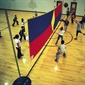 FlagHouse Look-Up Volleyball Net - Thumbnail 1