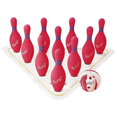 FlagHouse Full-Size Weighted Foam Bowling Set