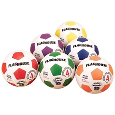 FlagHouse Rubber Soccer Ball Set - Size #4