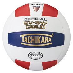 Tachikara® SV - 5W Gold™ Scarlet/White/Navy Volleyball