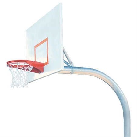 Bison® Complete Outdoor Basketball System - 5 9/16'' Mega-Duty System - 42''x60'' Backboard