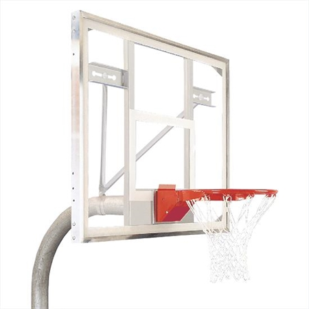 Bison® Complete Outdoor Basketball System - 4 1/2'' Heavy-Duty System - 42''x54'' Backboard