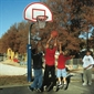 Bison® Complete Outdoor Basketball System - 4 1/2'' Heavy-Duty System - 36''x54'' Backboard - Thumbnail 1