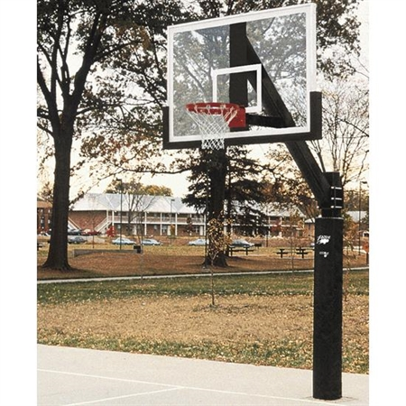 Bison® 6'' Ultimate Fixed - Height Basketball System with Unbreakable Poly Backboard
