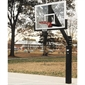 Bison® 6'' Ultimate Fixed - Height Basketball System with Unbreakable Poly Backboard - Thumbnail 1