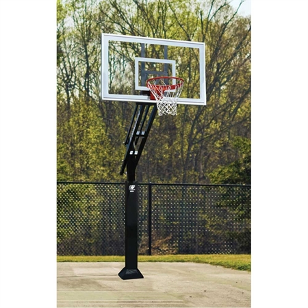 Bison® 6'' Ultimate Adjustable - Height Basketball System with Clear Poly Backboard