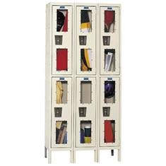 HALLOWELL SAFETY VIEW™ Locker - Ass. - 2 Tier - 12'' x 15'' x 36''