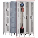 H - Duty Ventilated Lockers - 1 Tier - 12' 'x 12'' x 72'' - Assembled