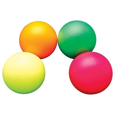 FlagHouse Dino Skin™ Sup-R-Brite - Medium Bounce - Coated Foam Ball - Set of Four - 7""