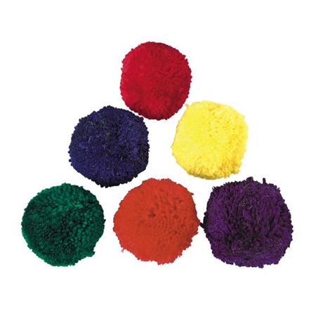 Colored Fleece Ball Set - 4""