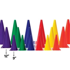 "Medium - Weight 12"" Six - Color Cone Set"