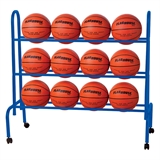 Basketball Storage Rack & 12 Basketballs
