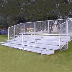 Semi - Enclosed Bleachers - 5 Rows - 15'