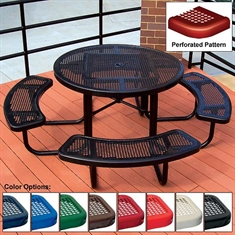 ADA Round Table - Perforated - 3 - Seat 46""