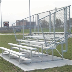 Semi - Enclosed Bleachers - 8 Rows - 15'
