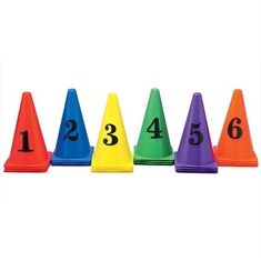 Numbered Cones Set of 36