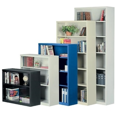 "All-Welded Steel Bookcase - 4 Shelves - 34 1/2"" x 12"" x 82"""