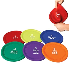 Soft Numbered Flying Discs Set of Six