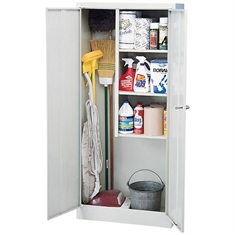 "Steel Janitorial Cabinet - 3 Shelves - 30"" x 15"" x 66"""