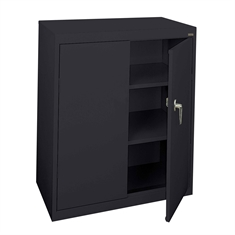 Counter-height Steel Storage Cabinet - 2 Shelves - 36'' x 18'' x 42""