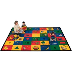 Blocks of Fun Rug - Large Rectangle