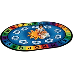 Sunny Day Learn & Play Rug - Medium Oval