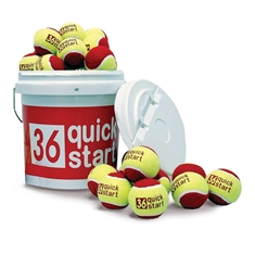 Quick Start 36 Set of 60 Tennis Balls with Bucket