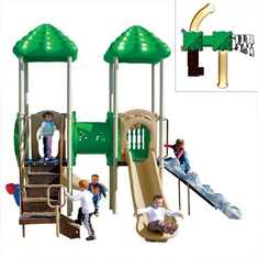 UP & Over Double-deck Play System with Two Roofs