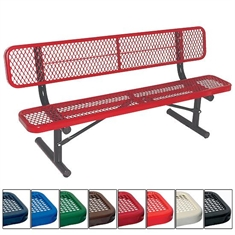 Supervisor Bench - Portable - 8' Perforated Pattern
