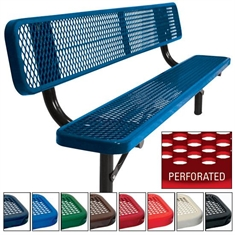 Supervisor Bench - In - Ground - 6' Perforated Pattern
