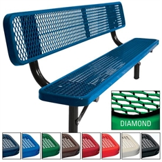 Supervisor Bench - In - Ground - 8' Diamond Pattern