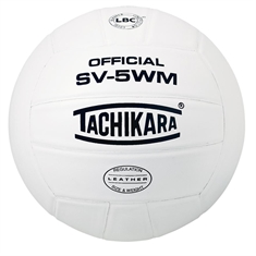 Tachikara® SV-5WM White Full Grain Leather Volleyball