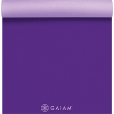 Gaiam Premium Yoga Mat - 2 Color 6mm Purple Jam