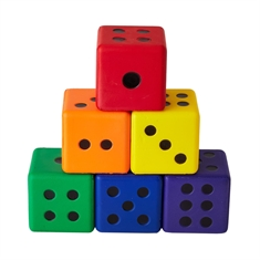 Colored Dice - Set of 6