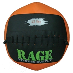 "RAGE® 14"" Medicine Balls - 12 lb Black/Orange"