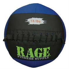 "RAGE® 14"" Medicine Balls - 14 lb Black/Purple"