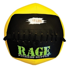"RAGE® 14"" Medicine Balls - 18 lb Black/Yellow"