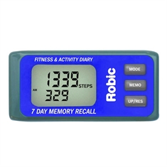 Robic® M339 3D Motion Sensor 7 Day Memory Pedometer