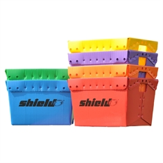 Shield® Storage Bins - 6 color Rainbow Set