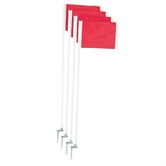 Soccer Corner Marker Flags with Plastic Pole