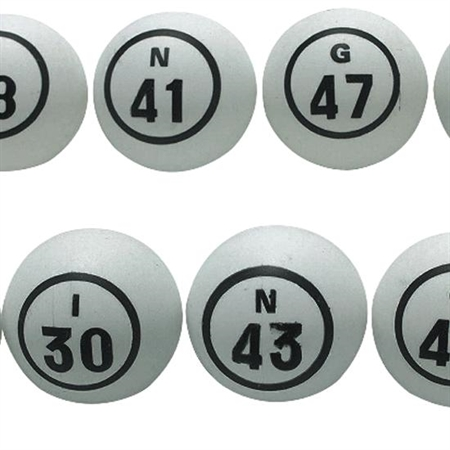 Celluloid Bingo Ball Set