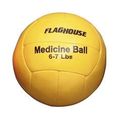 FlagHouse Synthetic Leather Medicine Ball - 6-7 lbs