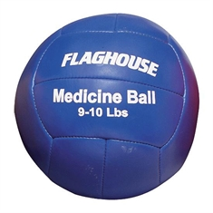 FlagHouse Synthetic Leather Medicine Ball - 9 - 10 lbs