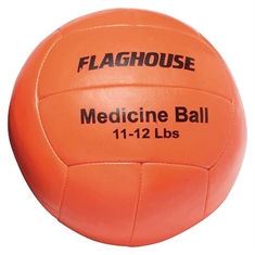 FlagHouse Synthetic Leather Medicine Ball - 11 - 12 lbs