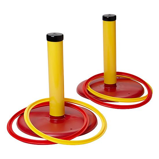 2 Kit//18Pcs Horseshoe Multifunctional Ring Toss Game Supplies for Outdoor Indoor