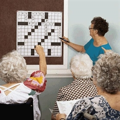 Giant Crossword Puzzles - 3' Laminated Crossword Diagram